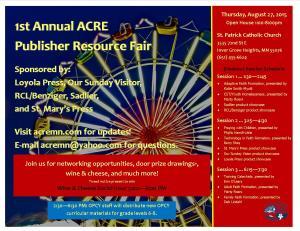 Pub Resource Fair Flyer - Incl Schedule