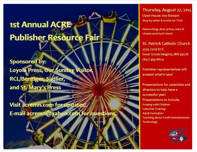 Publisher Resource Fair Flyer